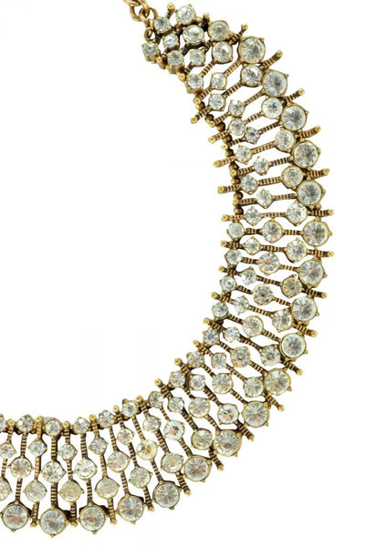 Kate Crystal Gold Necklce
