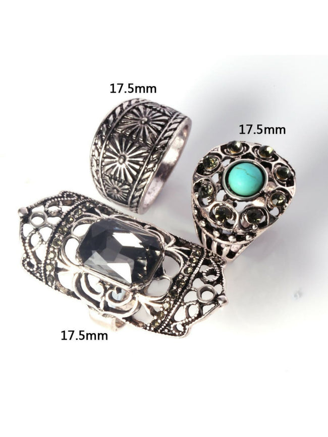 Boho Bloom Ring Set