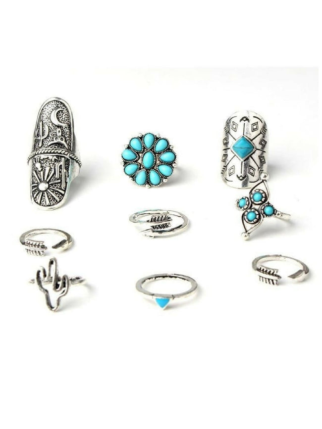 Antique Ring Set (Silver/Turquoise)
