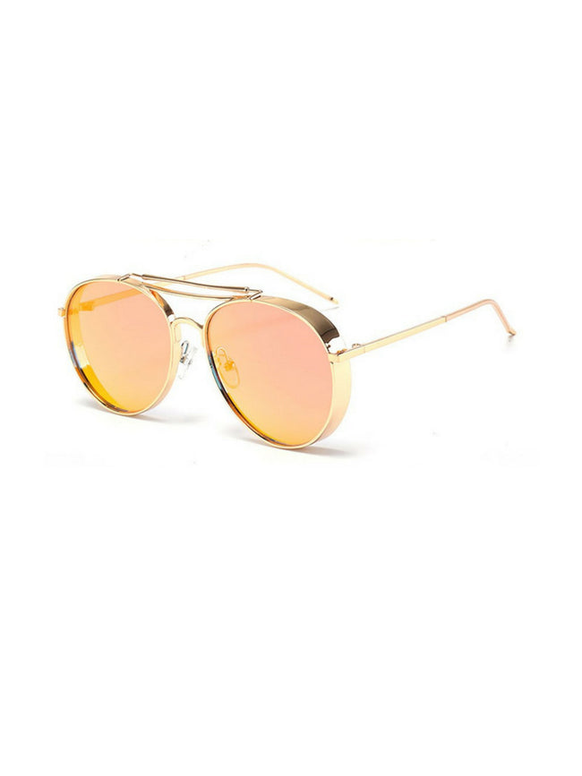 ROUNDED AVIATORS ROSE GOLD SUNGLASSES