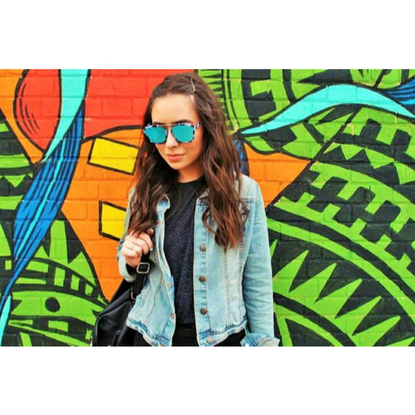 ARTSY BLUE SUNGLASSES