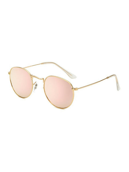 RETRO ROUND ROSE GOLD SUNGLASSES