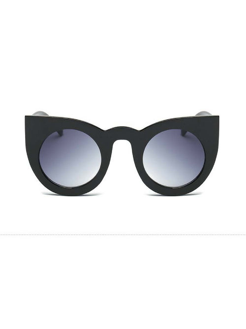RETRO CAT EYE BLACK SUNGLASSES