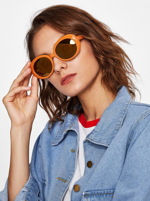 HEPBURN RUSTY ORANGE SUNGLASSES