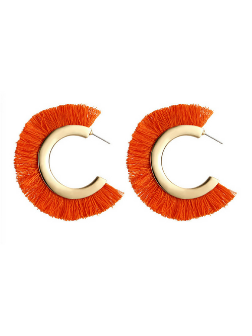 Arch Earrings Orange