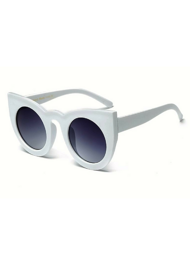 RETRO CAT EYE WHITE SUNGLASSES