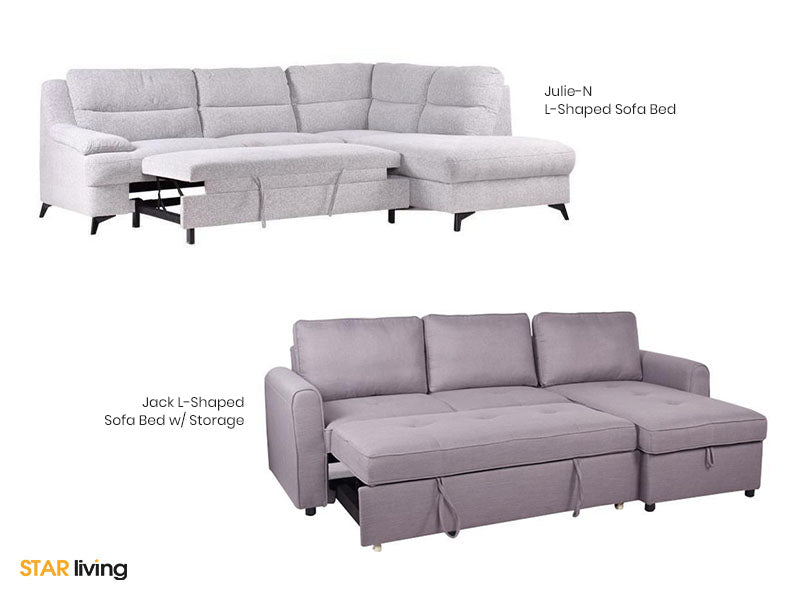 JULIE-N L-shaped Sofa Bed and JACK L-shaped Sofa Bed With Storage