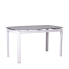 ALMOND-N DINING TABLE w/ GLASS TOP
