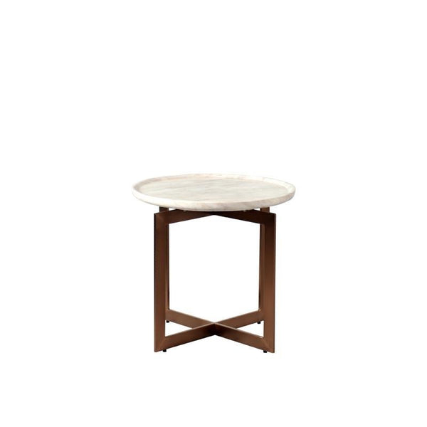 AGATHA END TABLE w/ MARBLE TOP