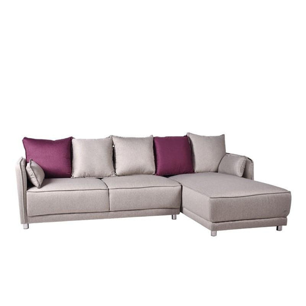 BARNEY L-SHAPED SOFA w/ 5 BACKRESTS & 2 THROW CUSHIONS (LHS) (UNDETACHABLE)