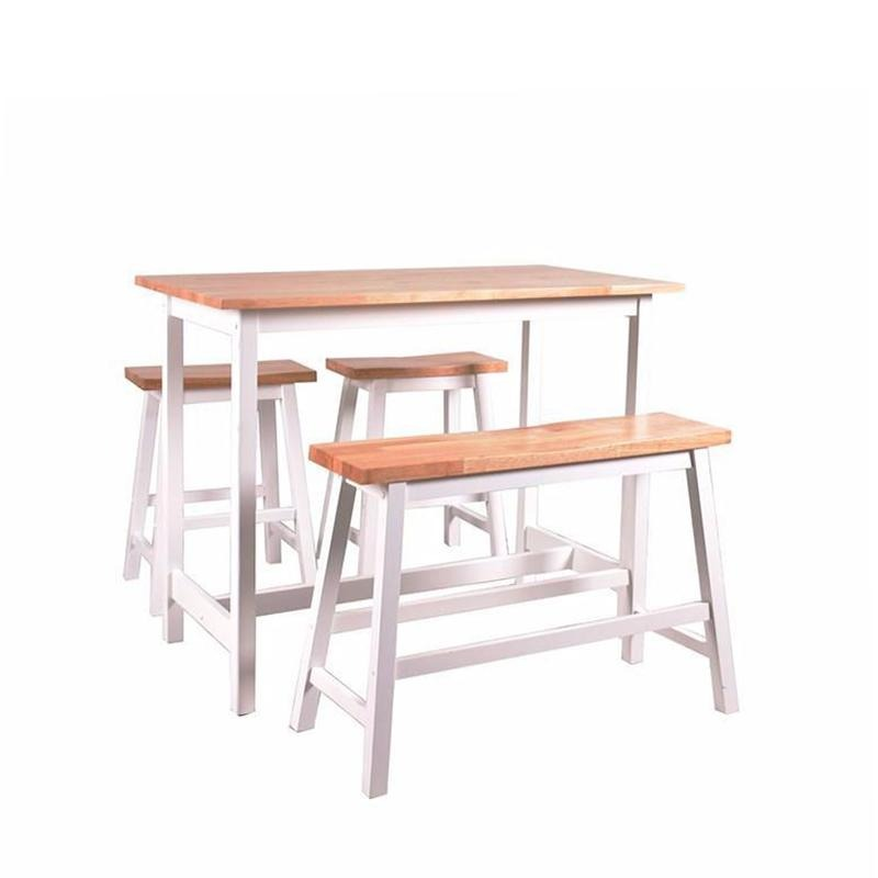 BARN HIGH TABLE SET (1 TABLE + 1 BENCH + 2 STOOLS) - Star Living
