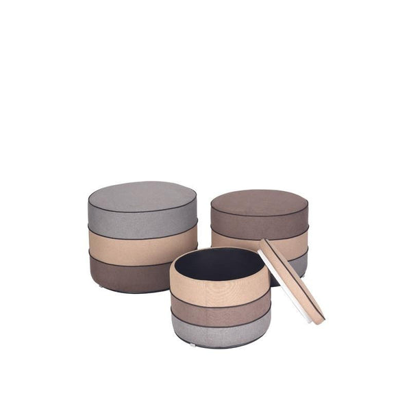 BARREL SET OF 3 STOOLS (UNDETACHABLE)