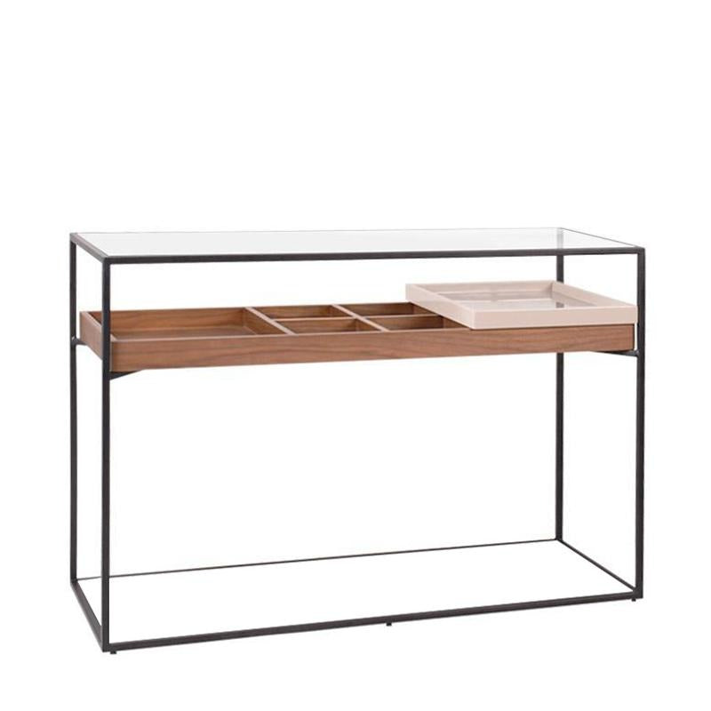 BOX-N2 CONSOLE w/ GLASS TOP - Star Living