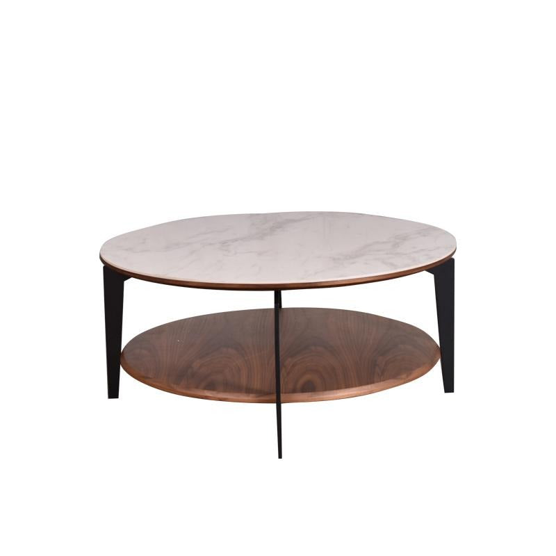 MARS ROUND COFFEE TABLE w/ CERAMIC TOP
