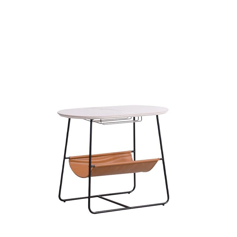 CHARLES END TABLE w/ WINEGLASS RACK