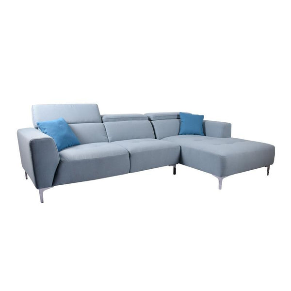 CLARA L-SHAPED SOFA w/ 2 THROW CUSHIONS (LHS) (UNDETACHABLE)