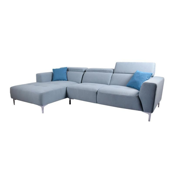 CLARA L-SHAPED SOFA w/ 2 THROW CUSHIONS (RHS) (UNDETACHABLE)