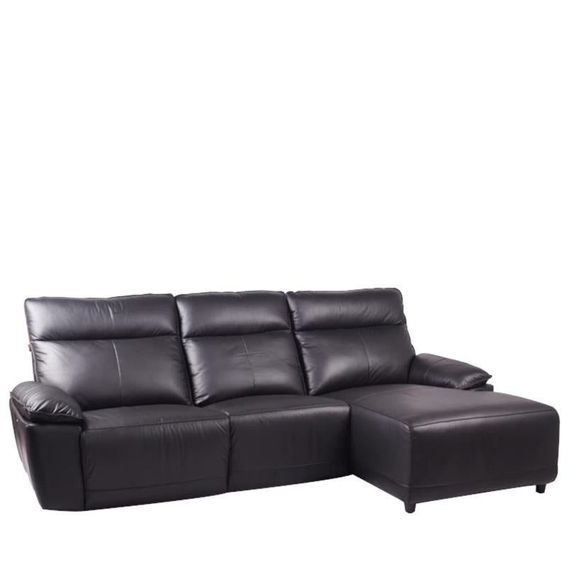 DUKE L-SHAPED SOFA w/ POWERED RECLINER (LHS) - Star Living