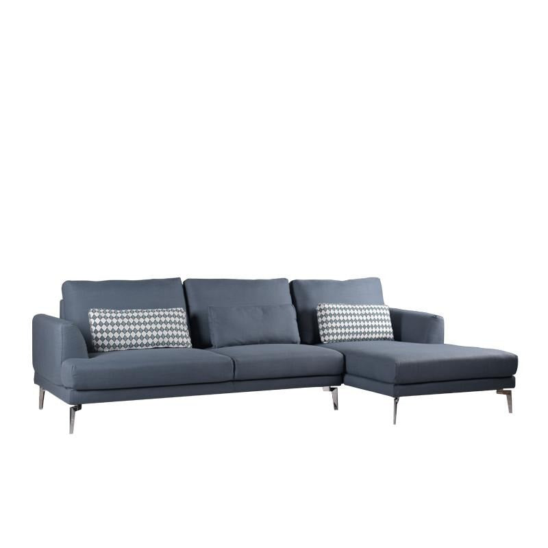 EVELYN L-SHAPED SOFA w/ 3 KIDNEY PILLOWS (LHS) (DETACHABLE BACKREST)