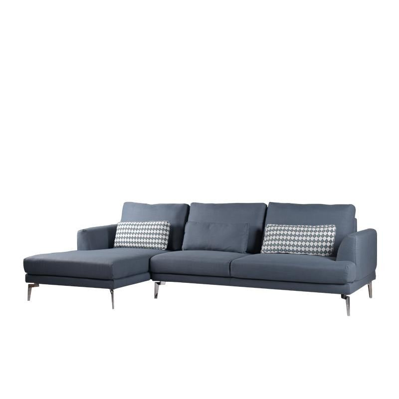 EVELYN L-SHAPED SOFA w/ 3 KIDNEY PILLOWS (RHS) (DETACHABLE BACKREST)