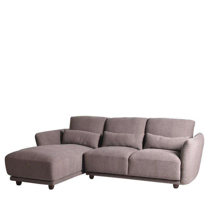 GOBLIN L-SHAPED SOFA w/ 3 KIDNEY PILLOWS (RHS) (UNDETACHABLE)