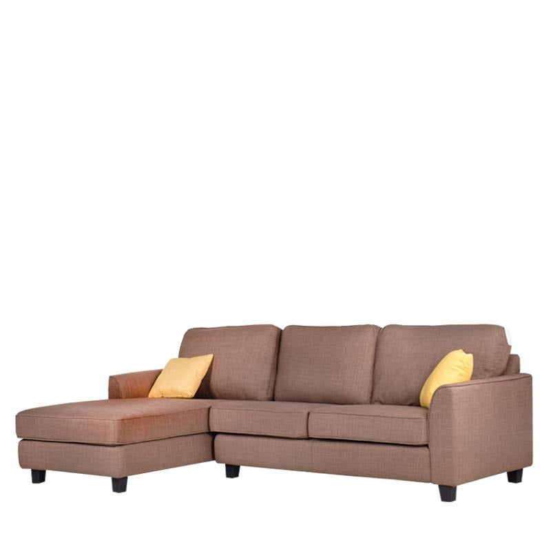 HANSEL L-SHAPED SOFA w/ 2 THROW CUSHIONS (RHS) (DETACHABLE)
