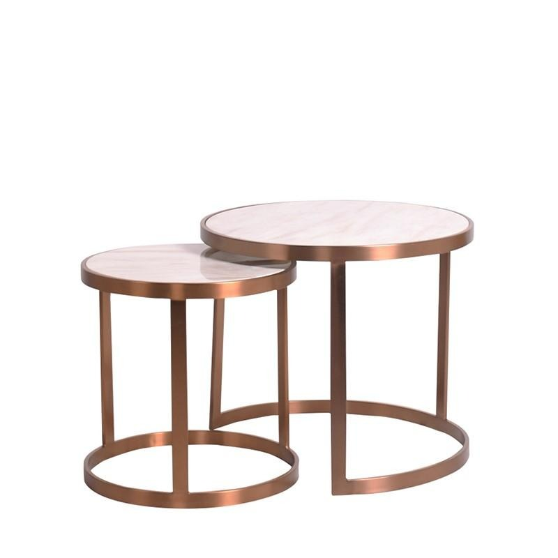 HELIOS NEST OF 2 TABLES w/ MARBLE TOP - Star Living
