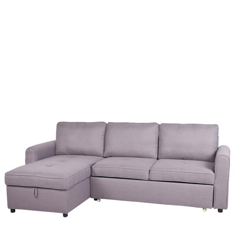 JACK L-SHAPED SOFA BED w/ STORAGE (RHS) (DETACHABLE BACKREST) - Star Living
