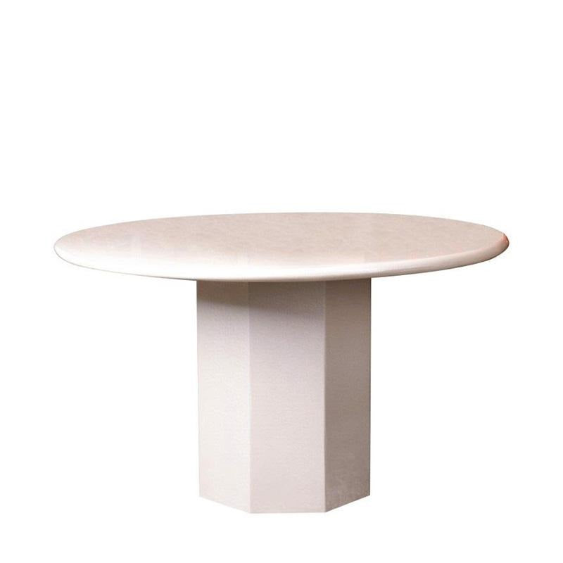 LORRIS-R-LX FULL MARBLE ROUND DINING TABLE - Star Living