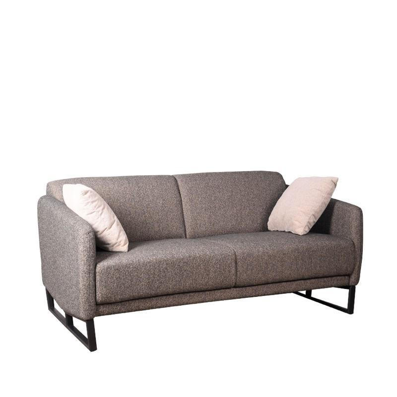 LOTTIE 2 SEATER SOFA w/ 2 THROW CUSHIONS (UNDETACHABLE)