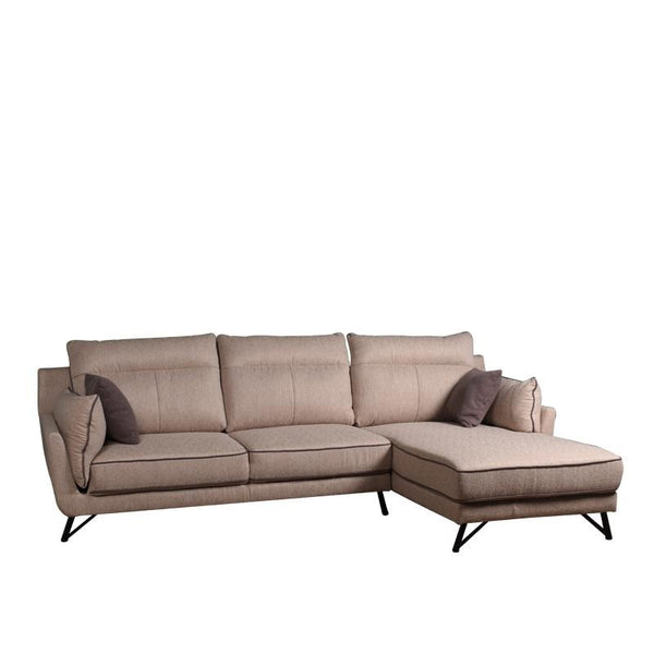 MAIZE L-SHAPED SOFA w/ 2 THROW CUSHIONS (LHS) (DETACHABLE ARMREST & BACKREST)