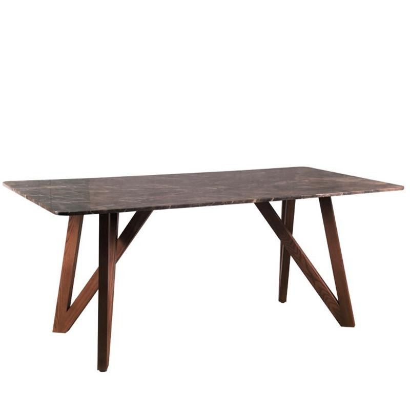 MARS-N DINING TABLE w/ MARBLE TOP - Star Living
