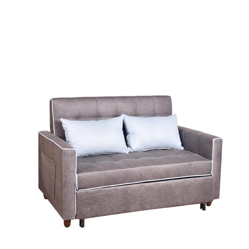 MERYL 2 SEATER SOFA BED w/ 2 THROW CUSHIONS (DETACHABLE)