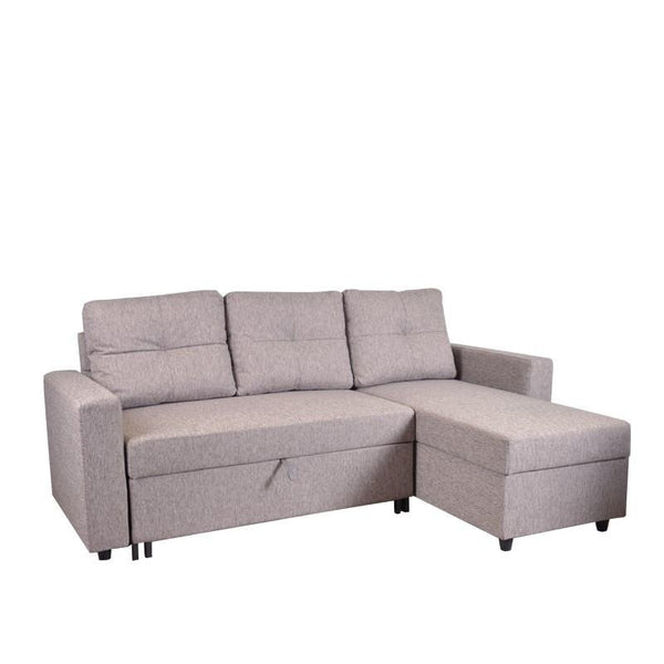 PEPPER L-SHAPED SOFA BED w/ STORAGE (LHS) (DETACHABLE)
