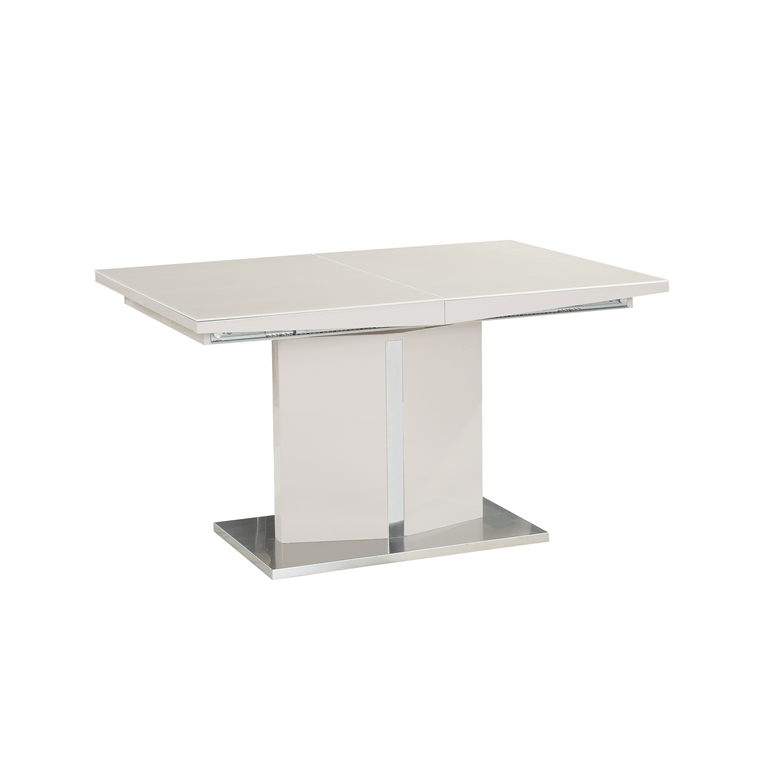 QUINCY EXTENDABLE DINING TABLE w/ GLASS TOP