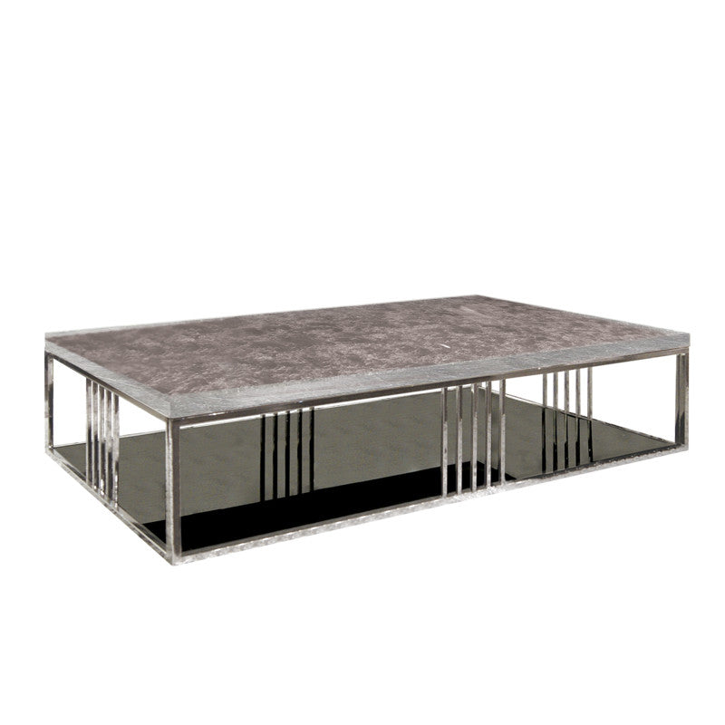 TRINTO RECTANGLE COFFEE TABLE w/ MARBLE TOP