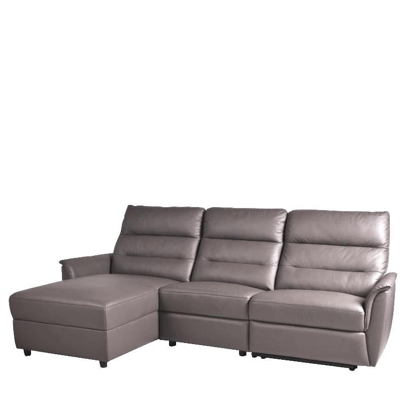 WEBBER L-SHAPED SOFA w/ POWERED RECLINER (RHS) - Star Living