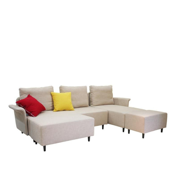 ALOHA FUNCTIONAL SOFA w/ 3 BACKRESTS & 2 THROW CUSHIONS (LHS) (UNDETACHABLE)
