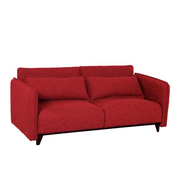 BLUSH 2 SEATER SOFA BED w/ 2 THROW CUSHIONS (UNDETACHABLE)