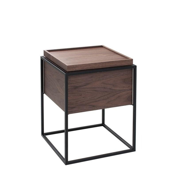 BOX-B END TABLE w/ SWIVEL TOP