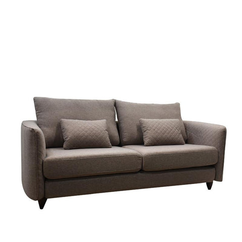 BROWNIE 3 SEATER SOFA w/ 2 THROW CUSHIONS (DETACHABLE)