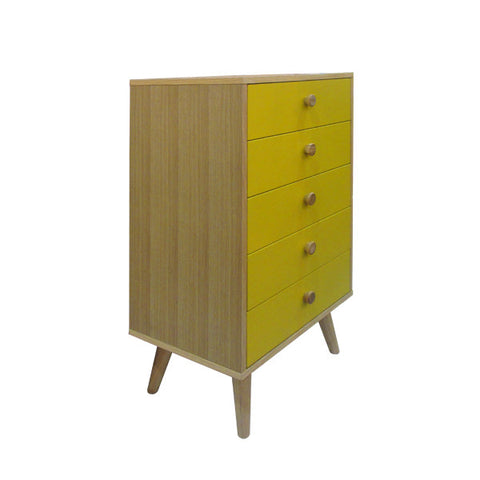 BUTTON CHEST OF 5 DRAWERS