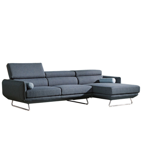 CLAIRE L-SHAPED SOFA w/ 2 BOLSTERS (LHS) (UNDETACHABLE)