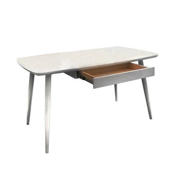 EIFFEL DINING TABLE W DRAWER GLASS TOP Star Living