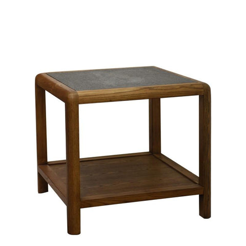 FUJI END TABLE w/ STONE TOP