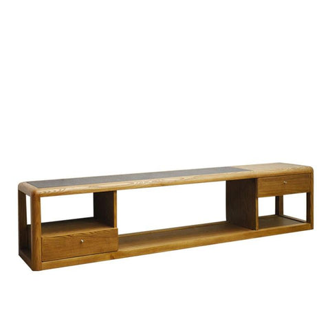 FUJI TV SIDEBOARD w/ STONE TOP