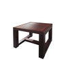 HAILEY LOW WOODEN STOOL w/ STRIPS