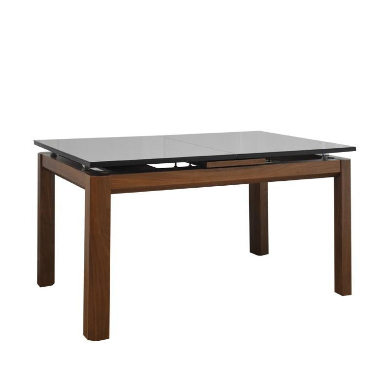 SAHARA EXTENDABLE DINING TABLE w/ GLASS TOP