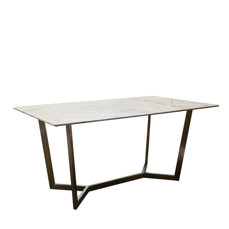 SYLVIA-SG DINING TABLE w/ MARBLE TOP
