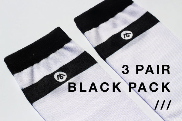 3 PAIR - BLACK PACK